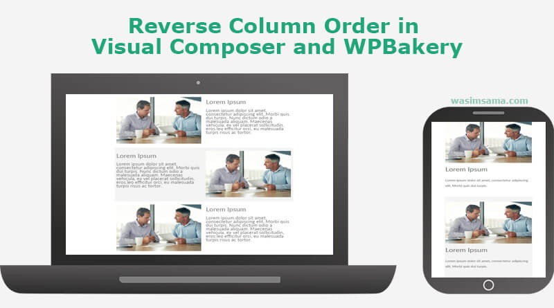Reverse Column Order in Visual Composer or WPBakery